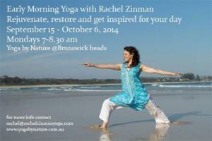 Rachel Ziman Yeans, Brunswick Heads Yoga, Yoga by Nature, Hatha, Events in Brunswick Heads