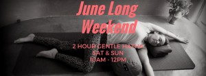 june long weekend