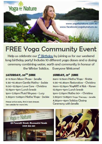free yoga event