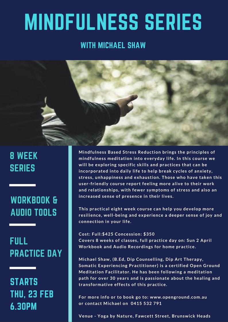 Mindfulness Meditation 8 Week Series Yoga By Nature Australia